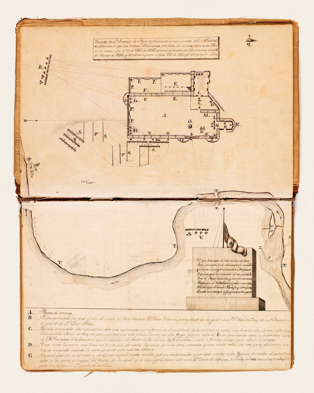 Texas, 1836, Alamo, Manuscript Plan, Texas Revolution | Battlemaps.us