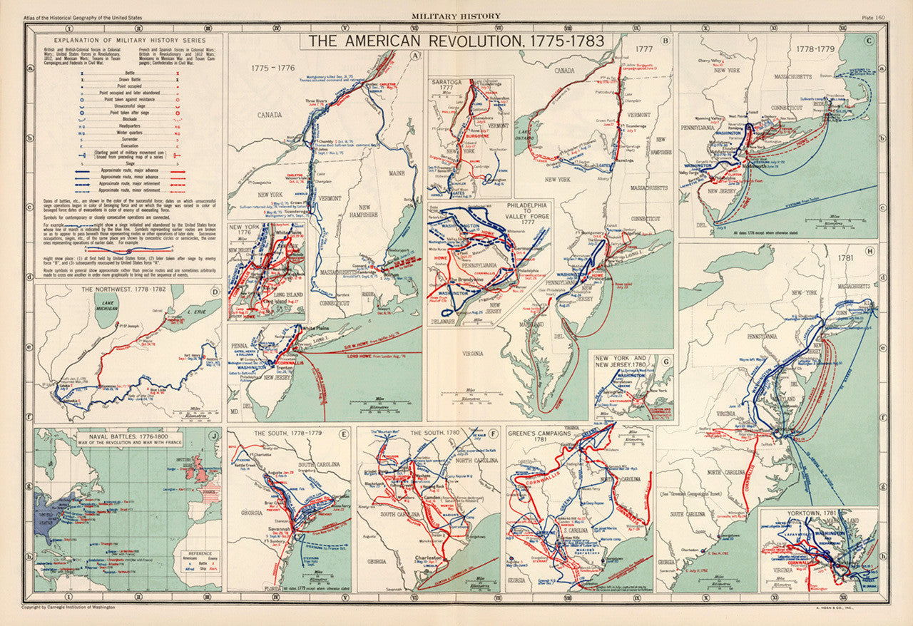 American Revolution, 1775-1783, Military History Maps