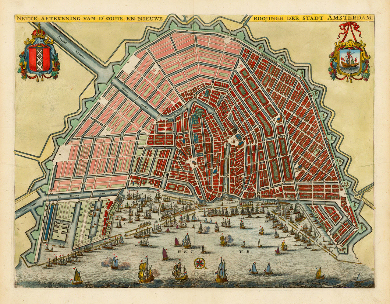 Amsterdam, 1663, Olfert Dapper, City Plan
