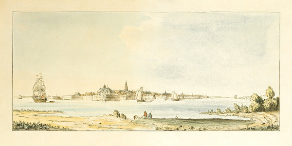 South Carolina, 1777, Charleston, View from the South Shore of Ashley River