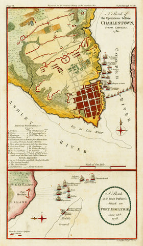 South Carolina, Charleston, 1780, Fort Moultrie, 1776, Revolutionary War Plans