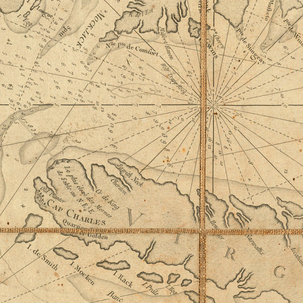 Chesapeake Bay, 1778, Virginia, Maryland, French Navy Revolutionary War Chart