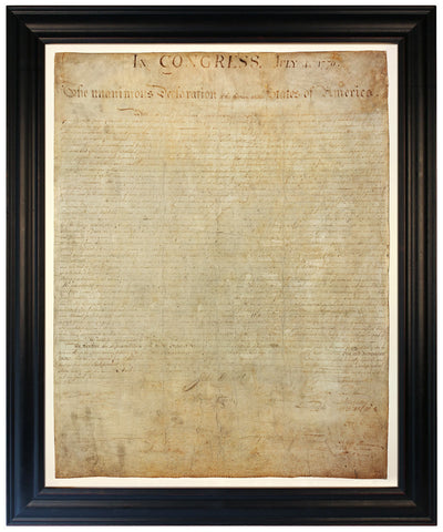 Declaration of Independence, Premium Edition Replica, Framed