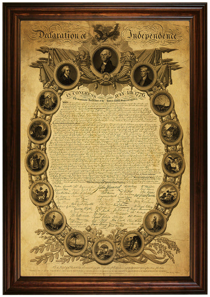 Declaration of Independence, 1818, Premium Edition Replica