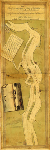 Delaware River, 1777, Philadelphia, Chester, New Jersey, Revolutionary War Map