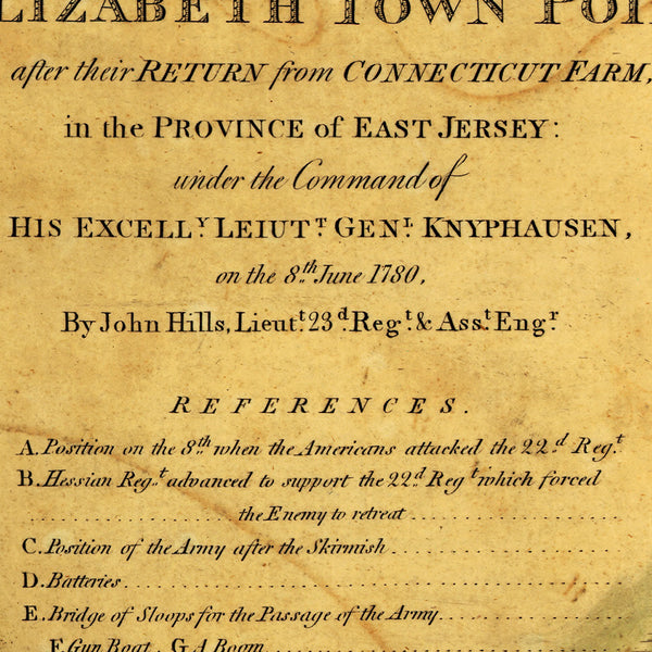 New Jersey, 1780, Elizabeth Town Point, Revolutionary War Map (I)