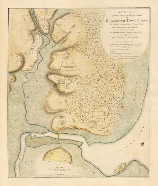New Jersey, 1780, Elizabeth Town Point, Revolutionary War Map (II)
