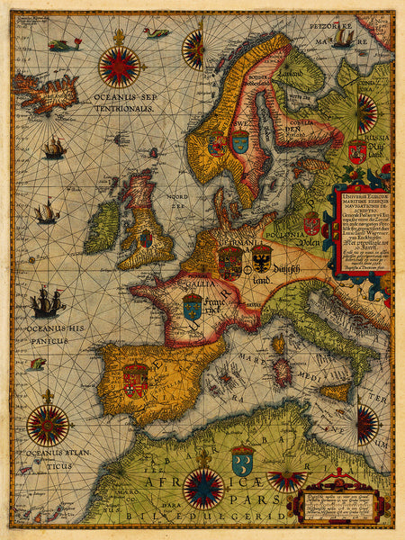 Europe, 1592, Northern, Western, Waghenaer, Sea Chart