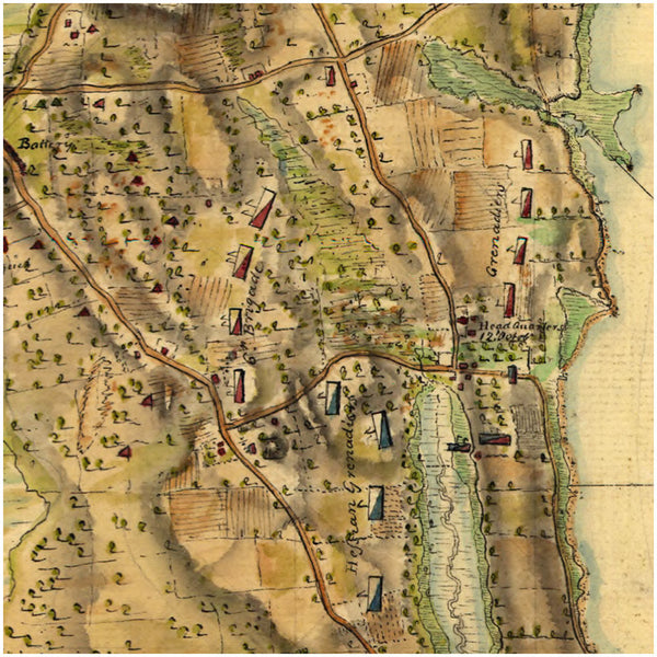 New York, 1776, Frog's Neck, (Throggs Neck), Bronx, Revolutionary War Map