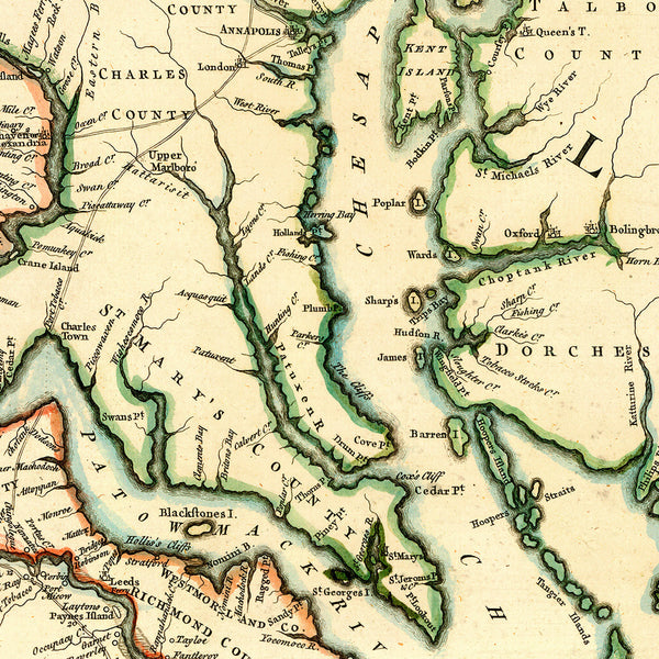 Virginia, 1755, Fry-Jefferson Map