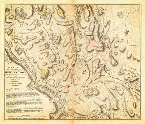 Philadelphia, 1777, Germantown, Philadelphia Campaign, Revolutionary War Map