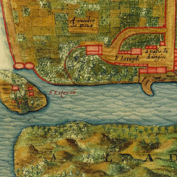 Goa, India, 1665, Vingboons, View, Old VOC Map
