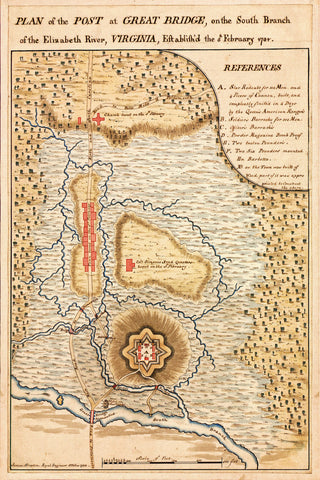 Yorktown, 1781, Virginia, Chesapeake, Great Bridge, Revolutionary War Plan