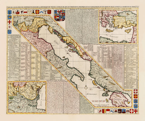 Venice, 1718, Gulf of Venice, Republic of Venice, Old Map