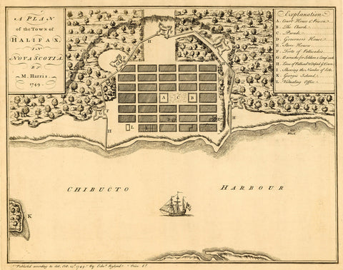 Canada, 1749, Halifax, Nova Scotia, Harris Plan