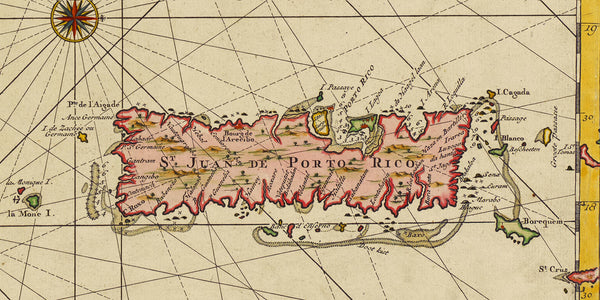 Caribbean, 1729, Hispaniola, Dominican Republic, Haiti, Keulen Map