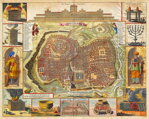 Jerusalem, Solomon's Temple, Ancient Plan, Biblical Map