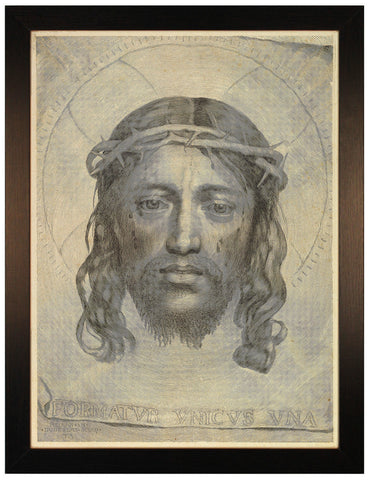 Face of Jesus, Veil of Veronica, 1649, Mellan, Engraving, Art Print, Framed