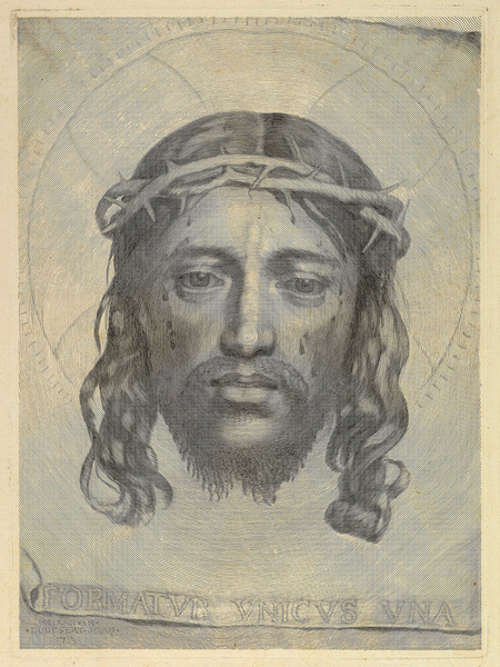 Face of Jesus, Veil of Veronica, 1649, Mellan, Burin Engraving, Fine Art Print