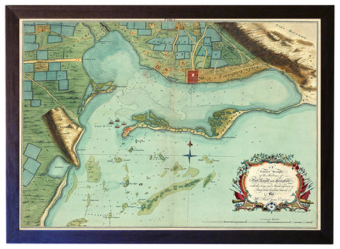 Caribbean, 1756, Kingston, Port Royal, Jamaica, Framed Map