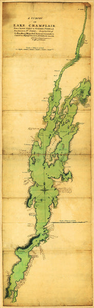 New York, 1762, Lake Champlain, French & Indian War Map