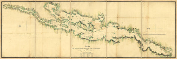 New York, 1776, Lake Champlain, Battle of Valcour Island Plan