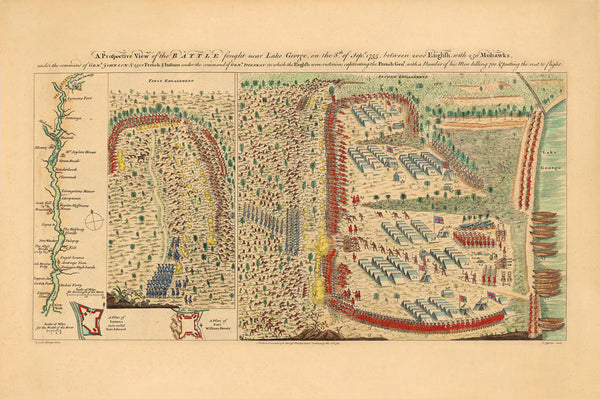 New York, 1755, Battle of Lake George, French & Indian War (I)