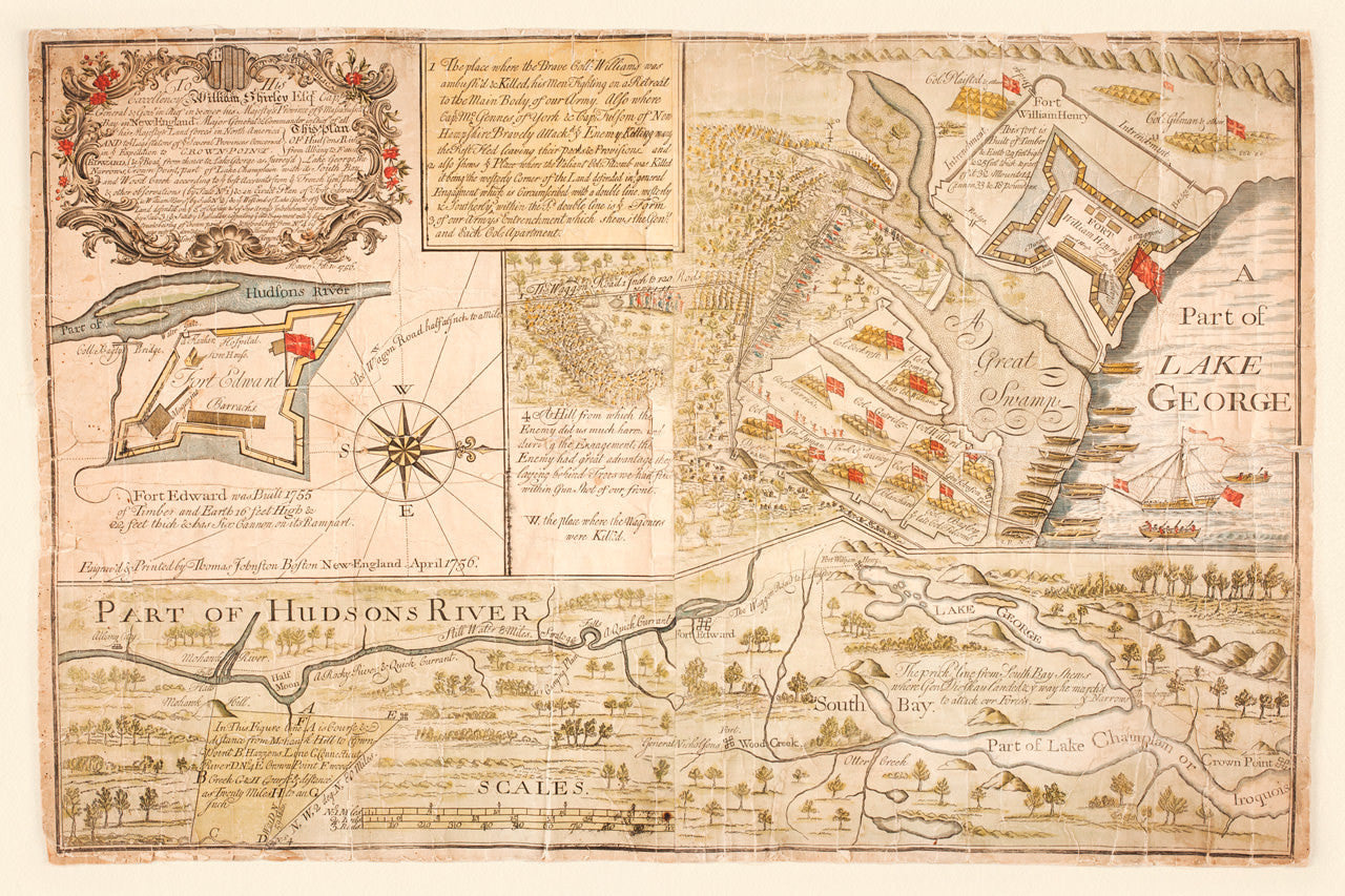 Battle of Lake George, New York, 1755 (1756) Map | Battlemaps.us