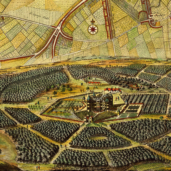 London, 1700, De Ram, La Feuille, De Wit, Van Der Aa, City Plan
