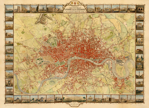 London, 1851, Tallis, Illustrated City Plan