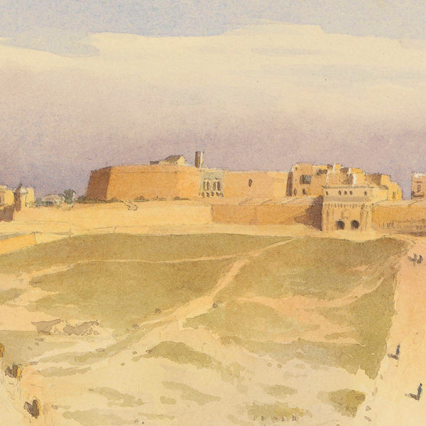 Malta, 1858, Valletta, Watercolor View, Fine Art Print