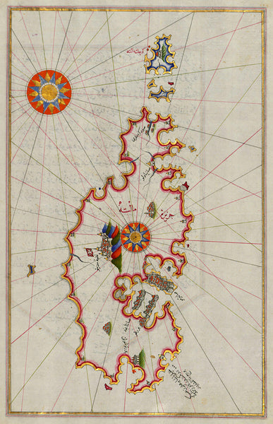 Malta, 1525, Maltah, Great Siege, Piri Reis Map