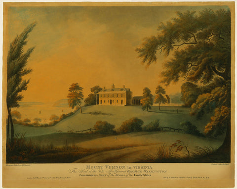 Mount Vernon, 1800, Estate View, George Washington