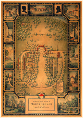 Mount Vernon, 1932, Estate Plan, George Washington