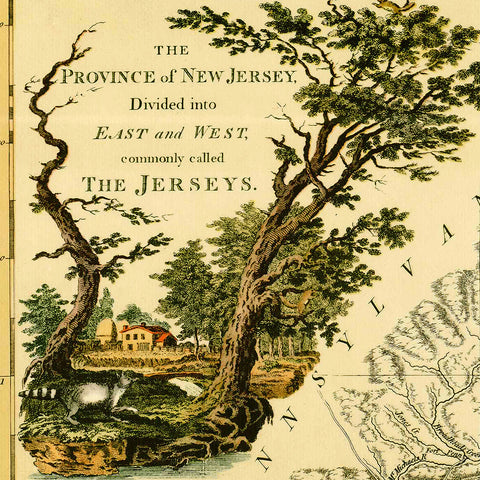 New Jersey, 1778, Bernard Ratzer, Revolutionary Era Map