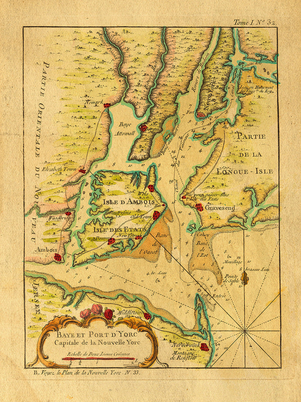 New York, 1764, French & Indian War Era, Bellin Map on map if erie county, map if san francisco, map if philadelphia, map if massachusetts bay,