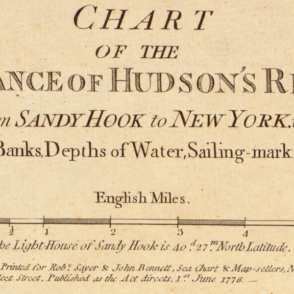 New York, 1776, Hudson River, Sandy Hook, New Jersey, Revolutionary Era Map