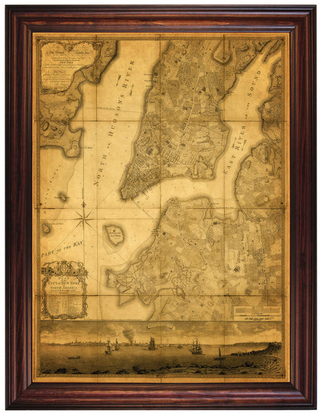 New York, 1776, Ratzer Plan (I), Antique Map