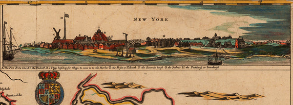 New Jersey, 1675, A Mapp of New Jarsey by John Seller