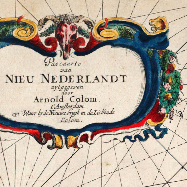 New Netherland, 1656, Nieu Nederlandt, Colom, Sea Chart