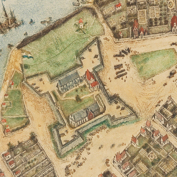 New York, 1660, Castello Plan, New Amsterdam