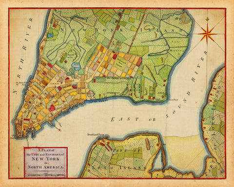 New York, 1776, City Plan, Revolutionary Era Map (II)