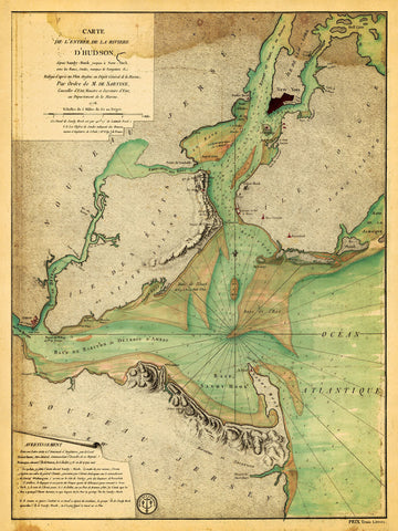 New York, 1778, Hudson River, Sandy Hook, New Jersey, Revolutionary Era Map