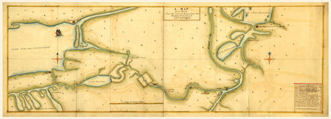 New York, 1750, Mohawk Valley, Lake Ontario, Lake Champlain, Manuscript Map