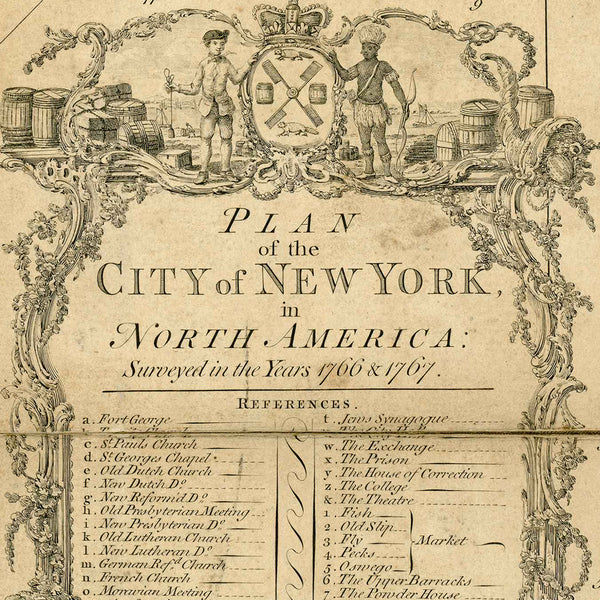New York, 1776, Ratzer Plan (II), Brooklyn, Old Map