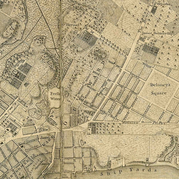 New York, 1776, Ratzer Plan (II), Manhattan, Old Map