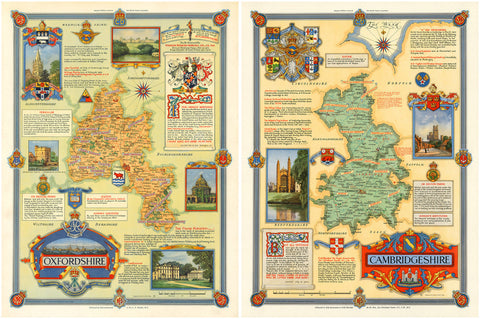Oxford & Cambridge, England, Map Set