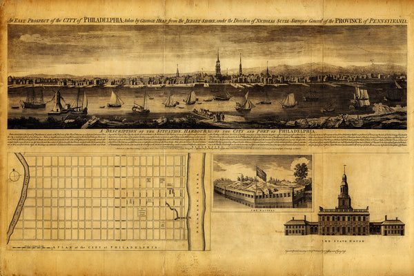 Philadelphia, 1753, Pennsylvania, French & Indian War Era Map