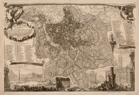 Rome, 1748, Topografia di Roma, Pianta, Nolli, Antique Map