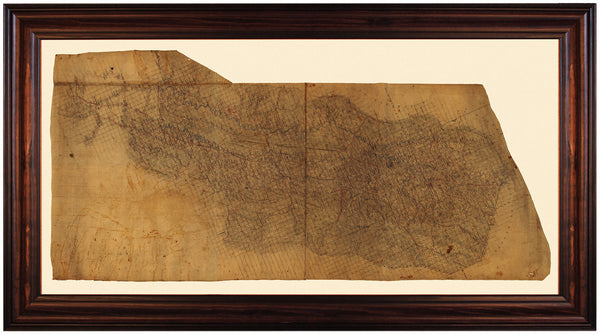 Shenandoah Valley, 1862, Virginia, Stonewall Jackson, Framed Civil War Map